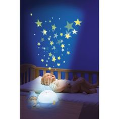 Nursery Night Light Projector Portable Soother Crib /& Stroller Attachable Sleep Aid for Babies Unicorns Baby White Noise Machine Toddlers Kids Blue