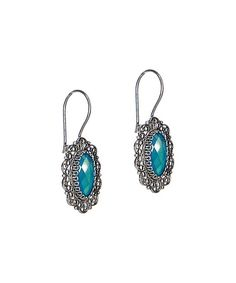 Another great find on #zulily! Ottoman Silver Collection Blue Chalcedony & Sterling Silver Filigree Oval Earrings by Ottoman Silver Collection #zulilyfinds