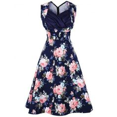 SHARE & Get it FREE | Floral Print Sweetheart Neckline Vintage DressFor Fashion Lovers only:80,000+ Items·FREE SHIPPING Join Dresslily: Get YOUR $50 NOW!
