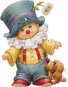 beautiful little boy by Ruth Morehead Illustration Mignonne, Cute Illustration, Clown Mignon, Art Mignon, Cute Clown, Send In The Clowns, Pintura Country, Sarah Kay, Digi Stamps