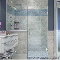 Dreamline Unidoor Plus 47-In To 47.5-In Polished Chrome Frameless Hinged Shower Door