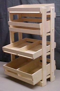 wooden display