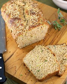 Parmesan Zucchini Quick Bread ~ Heat Oven to 350