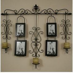 Large Wall Decor Wrought Iron