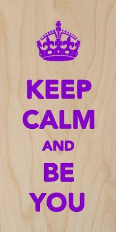 'Keep Calm and Be You' Inspirational Quote Text - Plywood Wood Print Poster Wall Art                                                                                                                                                      More