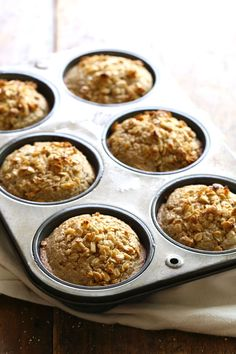Caramelized Banana Oat Muffins
