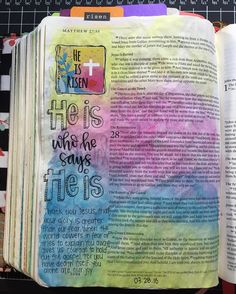 """I can't get enough of these ultra colorful pages!  I started going through the new @shereadstruth reading plan yesterday and it is already doing me so much good! The words at the bottom of the page are not my own (written by Claire Gibson) but they really spoke to me directly. (Also the first mistake I've made in this bible it's supposed to say """"for you have defeated death itself"""" ) Friends it is okay to have fear but remember to live in the joy of knowing that Jesus comes through always…"""