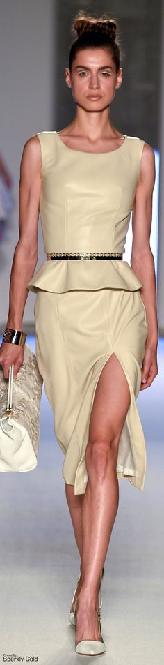 Aigner Spring 2015 women fashion outfit clothing style apparel @roressclothes closet ideas