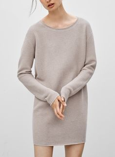 <p>An easy silhouette in a blend of silk, cotton, and cashmere</p>