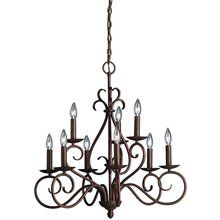 View the Kichler 1714 9 Light Up Light Chandelier from the Norwich Collection at LightingDirect.com.