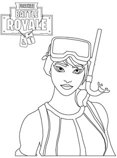Fortnite Battle Royale Coloring Page Coloring Squared In
