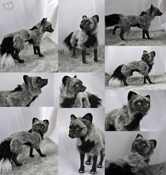 Silver fox posable art doll by LisaToms on DeviantArt