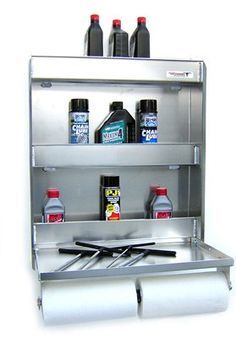 Pit Posse 445 Senior Work Station Aluminum Cabinet Tray Storage Shelf Trailer Shop Garage Accessory, 2015 Amazon Top Rated Systems #AutomotivePartsandAccessories