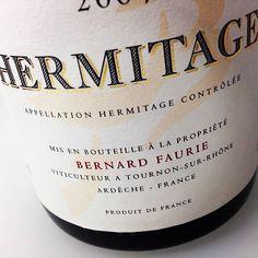 Bernard Faurie Hermitage Bessards-Meal 2009 #NorthernRhone #Hermtiage #syrah #france #wine