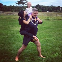 """Alec Baldwin's wife Hilaria Baldwin doesn't go a day without posting her wacky yoga poses on Instagram. And she loves to include her cute daughter Carmen. Take the pic she shared with her little one when her beau came home from work. She wrote: """"Daddy/hubby is back from filming in Morocco ... so we present to you: 'never-ever-leave-again-asana' ..."""" Keep clicking to see more of her yogi life."""