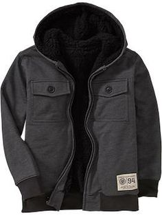 I am not above shopping in the kids' section. Boys Fleece Utility Jackets   Old Navy