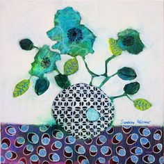 Flowers paintings: In Sofia by Canadian artist Sandrine Pelissier