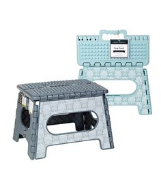 Tatton Gray 9'' Folding Step Stool - Set Of Two