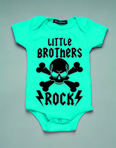 LITTLE BROTHERS ROCK BLUE ONESIE   Rock Rebel Shirts, Handbags, Jewelry