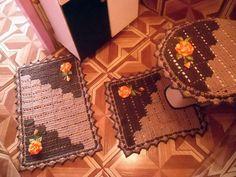 Схема вязания крючком комплекта ковриков для ванной комнаты