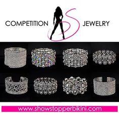 New Showstopper NPC Bikini Competition Bracelets available now at showstopperbikini.com!