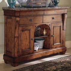 Kincaid Furniture Tuscano Sideboard With Marble Top Buffet Server TableDining