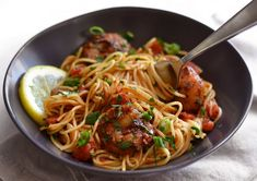 This quick and easy 30 minute Blackened Shrimp Pasta with homemade blackening seasoning boasts huge flavor without a lot of work. Blackened Shrimp, Shrimp Pasta, Linguine, Japchae, Spaghetti, Homemade, Eat, Ethnic Recipes, Food