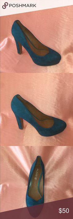 Aldo Shoes x Turquoise Heels You'll fall in love with these Turquoise beauties. Add a subtle pop of color to any outfit. Aldo Shoes Heels