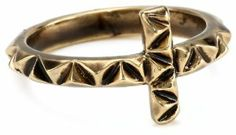 House of Harlow 1960 Faceted Metal Cross Stack Ring, Size 6 House of Harlow 1960. $45.00