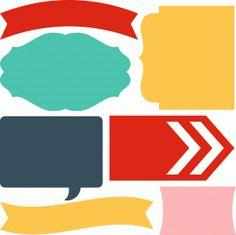 Silhouette Design Store - View Design #45030: 7 lori whitlock journaling shapes
