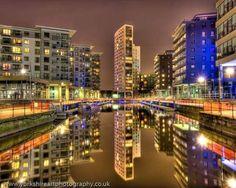 Leeds New Dock: Reflections Leeds, San Francisco Skyline, London, Travel, Places To Visit, Viajes, Destinations, Traveling, Trips