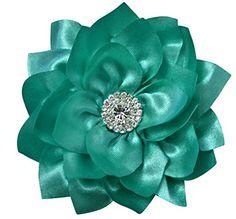 Aqua Blue Silk Flower Handcrafted Hair Clip Rhinestone Bridal Bridesmaid Flower Girl Hair Accessory (4.0 inch, Aqua Blue) Cleo Classic Designs http://www.amazon.com/dp/B019A1NVZA/ref=cm_sw_r_pi_dp_ARgBwb1KNX88X