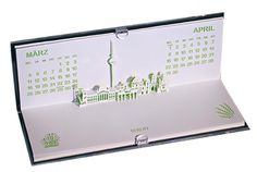 Architecture pop-up calendar