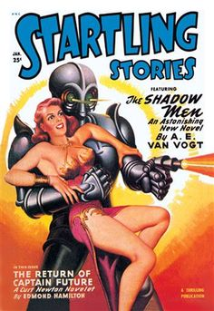 Startling Stories: Robot Seizes Woman http://www.walls360.com/science-fiction-wall-graphics-s/1949.htm