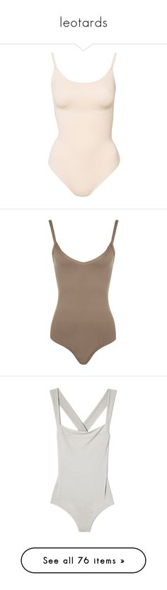 """""""leotards"""" by nudelune ❤ liked on Polyvore featuring intimates, shapewear, tops, bodysuits, underwear, lingerie, briefs, nude, womens-fashion and body"""