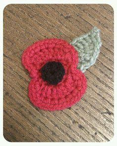 Bilgewater: A Poppy for Remembrance Crochet Poppy, Love Crochet, Beautiful Crochet, Crochet Flowers, Knit Crochet, Crochet Designs, Crochet Patterns, Crochet Ideas, Remembrance Poppy