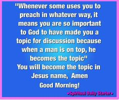 Important to God