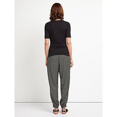 Buy East Lifestyle Shibori Print Harem Trousers, Black Online at johnlewis.com