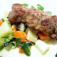 Stekt fläskkarré med oregano och rotfrukter Pork, Meat, Kale Stir Fry, Pigs, Pork Chops