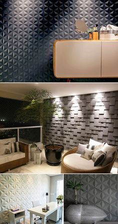 O 3D está em alta não só em filmes, já perceberam? Na decoração de interiores, temos visto o 3D em revestimentos de paredes e pisos como forte tendência. Vem ver todas as dicas clicando na imagem!