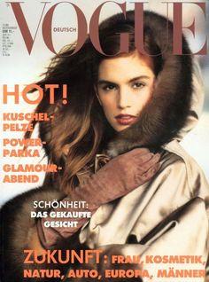 Cindy Crawford Vogue Deutsch November 1989