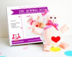 Make Your Own Lamb Baby sheep Plush Toy Sewing Kit by Mariapalito
