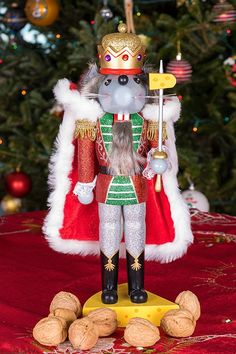 Red and Green Joker Outfit with Hat Perfect for Any Collection Festive Christmas Decor Scepter 7.25 Tall Traditional Chubby Jester Nutcracker by Clever Creations Bells 100/% Wood