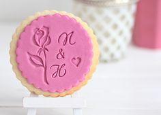 Rose - Romantik - Keksstempel / Fondantstempel für die Hochzeit von DeinKeksstempel auf Etsy