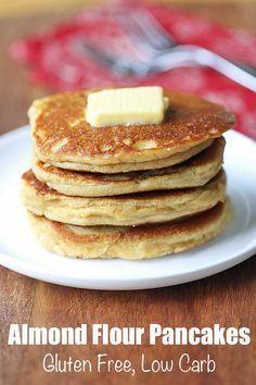 Flour Pancakes Wonderfully fluffy almond flour pancakes are low carb, keto and gluten free.Wonderfully fluffy almond flour pancakes are low carb, keto and gluten free. No Flour Pancakes, Low Carb Pancakes, Low Carb Breakfast, Breakfast Recipes, Breakfast Ideas, Gluten Free Pancakes, Paleo Pancakes Almond Flour, Breakfast Muffins, Gluten Free Recipes