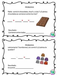 Problemas para I grado | Profe Yano Math 2, Math Class, First Grade Worksheets, Worksheets For Kids, Maila, Kindergarten Worksheets, Business For Kids, Learning Activities, Teacher