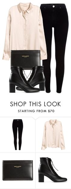 """Untitled #6138"" by laurenmboot ❤ liked on Polyvore featuring River Island, H&M and Yves Saint Laurent"