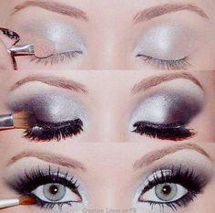 Plum eye makeup