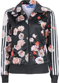 Rita Ora's Blushington Makeup & Beauty Lounge Adidas Black Floral Rose Print Jacket and Matching Pants