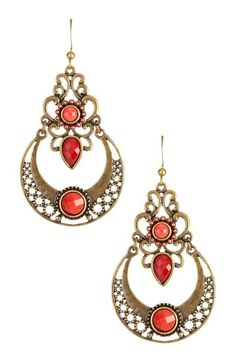 Circular Drop Bohemian Earrings by Sparkling Statements: Jewelry Event on @HauteLook